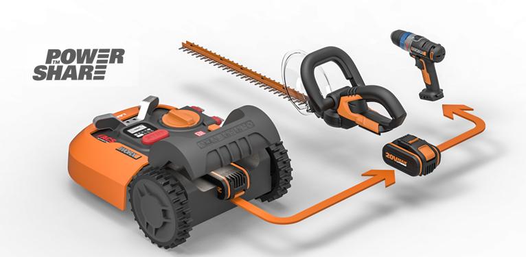 Единая платформа на основе батареи 20 Вольт реализована теперь и в роботах