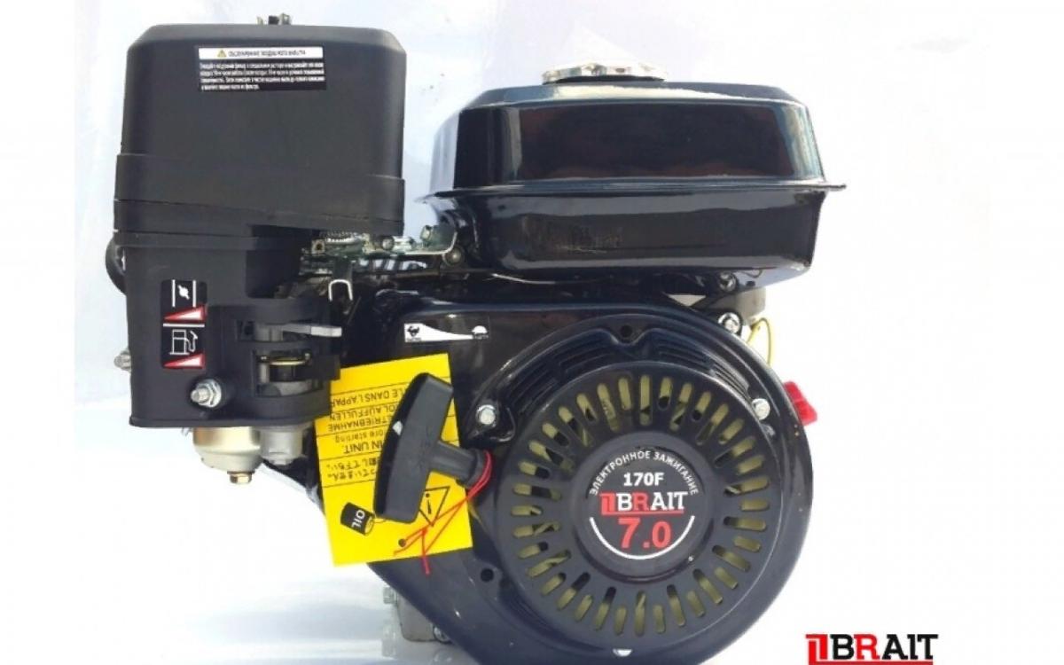 Двигатель бенз. BRAIT-220PG (407PG,170F G) 7.0л.с. 16кг вал 25мм под шлицы