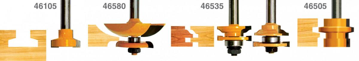 Набор фрез д/изгот. филенчатых изделий 5шт хв.12мм Энкор