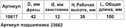 Фреза микрошиповая ф42х38мм хв 12мм Энкор